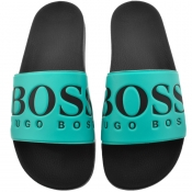 BOSS Athleisure Solar Sliders Blue